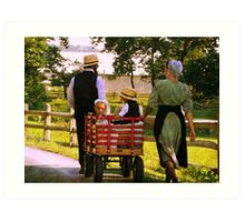The Red Wagon Art Print