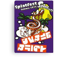 Splatfest Team Water Slides v.3 Canvas Print