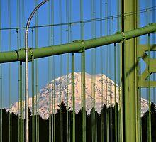 Mt. Rainier from the Tacoma Narrows Bridge by Jerome Petteys
