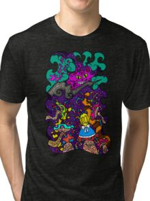 Alice And The Cheshire Cat Tri-blend T-Shirt