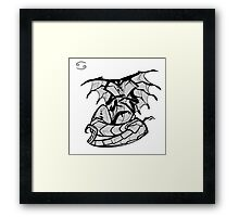 DoubleZodiac - Cancer Dragon Framed Print