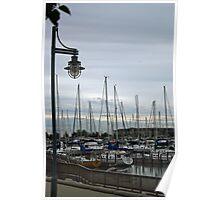 Early Morning At Southport Marina Poster