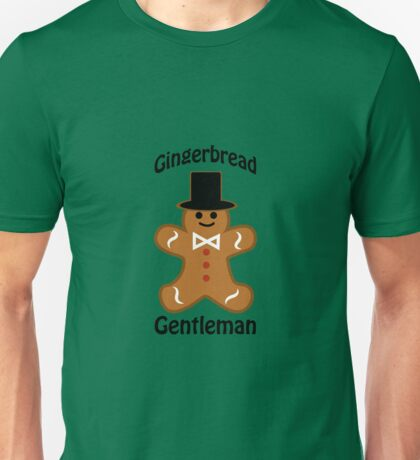 Dapper Gingerbread Gentleman Unisex T-Shirt