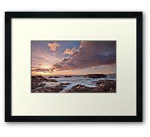 Dusk at Smiths Beach. Framed Print