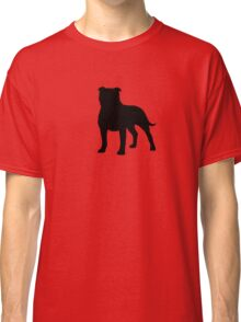 Staffordshire Bull Terrier Silhouette(s) Classic T-Shirt