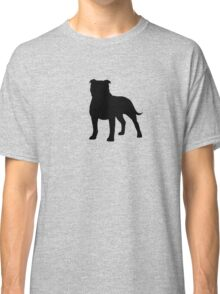 Staffordshire Bull Terrier Silhouette Classic T-Shirt