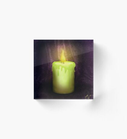 Candle Acrylic Block