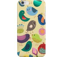Cute Vintage Birds Seamless Pattern iPhone Case/Skin
