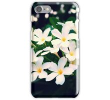 White Frangipanis iPhone Case/Skin