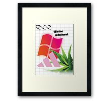 Fall In Love On The Internet Aesthetic Framed Print