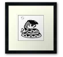 DoubleZodiac - Cancer Snake Framed Print