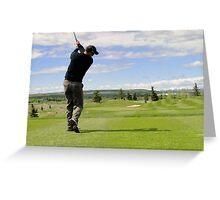 Golf Swing D Greeting Card