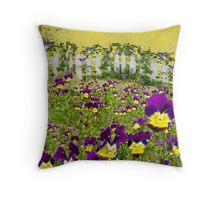 Violets In Washington Throw Pillow