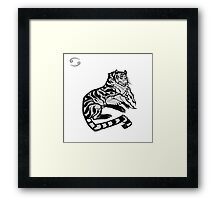 DoubleZodiac - Cancer Tiger Framed Print