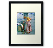 Reflection in the Mirror Framed Print
