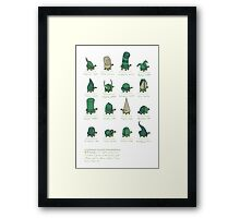 A Study of Turtles Framed Print