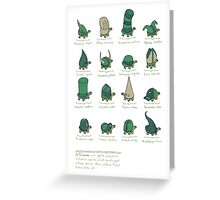 A Study of Turtles Greeting Card