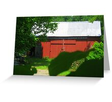 Barn in Griswold, CT Greeting Card