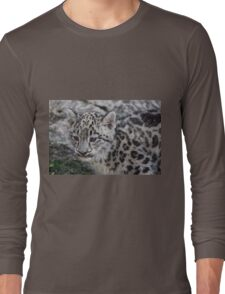 Baby Snow Leopard Long Sleeve T-Shirt