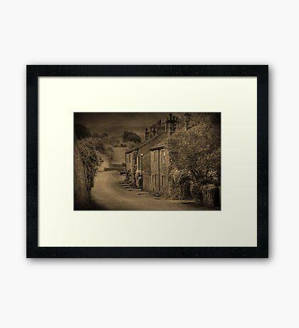 Cottages at Downham  Framed Print