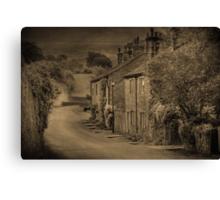 Cottages at Downham  Canvas Print