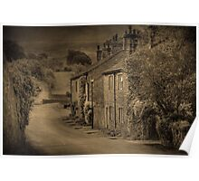 Cottages at Downham  Poster