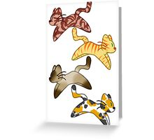 Four Cats Greeting Card