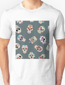 Sugar Skull Seamless Pattern Unisex T-Shirt