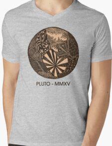 Pluto Sketch Mens V-Neck T-Shirt