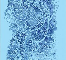 Blue doodle by Picatso