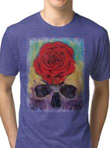 Skull Rose Tri-blend T-Shirt