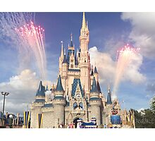Cinderella Castle ft. Fireworks and Friends Photographic Print