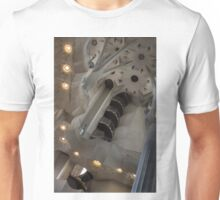 Shapes and Spirals - The Fascinating Interior of Antoni Gaudi's Sagrada Família Unisex T-Shirt