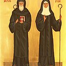 Icon of St.Benedict and Scholastica by stepanka