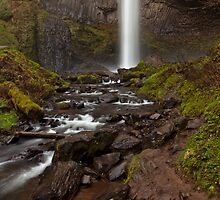 Latourell Falls ~ White Ribbon 2 by Ritchie Belleque