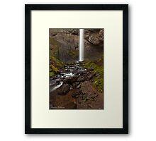 Latourell Falls ~ White Ribbon 2 Framed Print