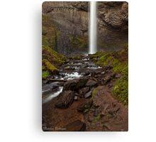 Latourell Falls ~ White Ribbon 2 Canvas Print