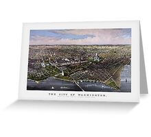The City Of Washington Birds-Eye View Greeting Card
