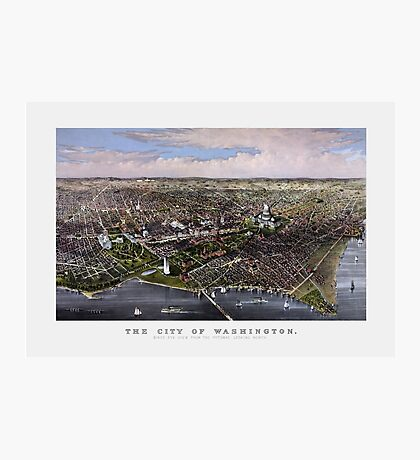 The City Of Washington Birds-Eye View Photographic Print