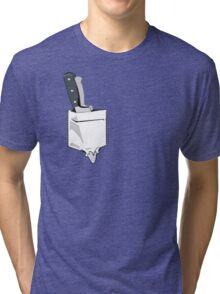 Pocket knife Tri-blend T-Shirt