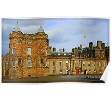 "Holyrood Palace featured in ""Postcard Destinations"" Poster"