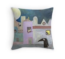 city of cats Throw Pillow