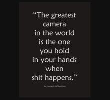 The Greatest Camera In The World by Raoul Isidro