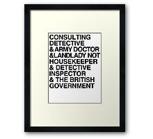 I like Detective Stories Framed Print
