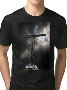 The Old Rugged Cross Tri-blend T-Shirt