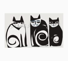 Black and white Cats Kids Clothes