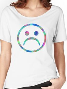 Cyber Sad Face Women's Relaxed Fit T-Shirt
