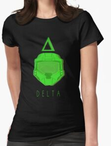 Red Versus Blue   Project Freelancer: Delta Womens Fitted T-Shirt