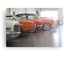 Muscle-car Garage Canvas Print