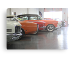 Muscle-car Garage Canvas Print